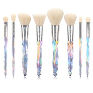 Kiss Wow Club Holographic Crystal White Makeup Brush Set