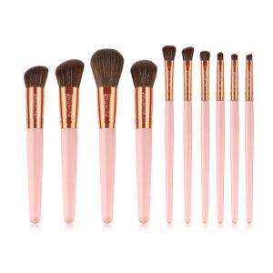 Kiss Wow Club Rose Gold and Pink Makeup Brush Kit 1
