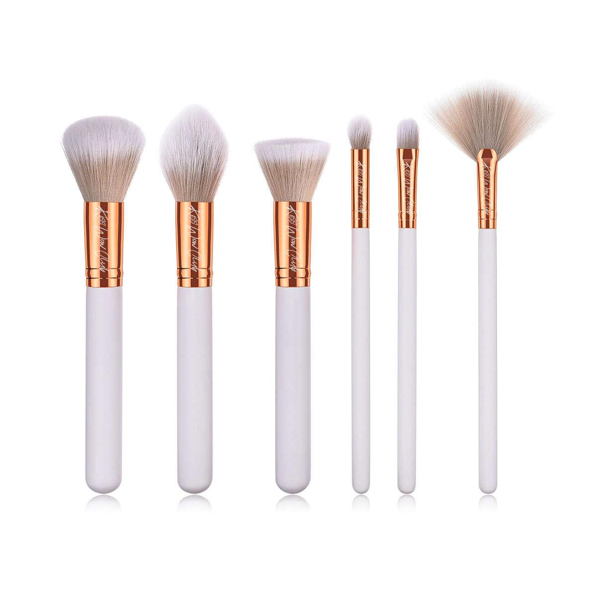 Kiss Wow club White Sable Makeup Brush Set