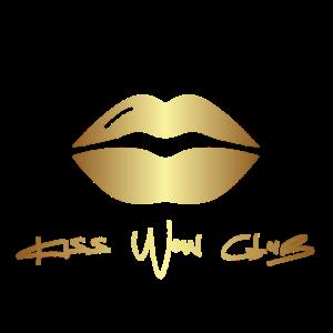 Kiss Wow Gold Lips Logo Transparent