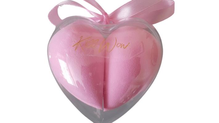 Kiss Wow Club Double Heart Makeup Blender Sponges 1