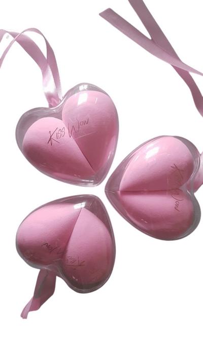 Kiss Wow Club Double Heart Makeup Blender Sponges 2