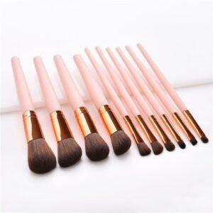 Kiss Wow Club Flamingo Pink Makeup Brush Kit 3