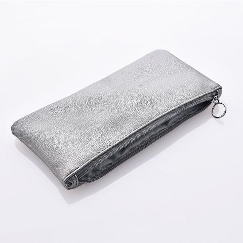 Kiss Wow Club Grey Cosmetic Bag