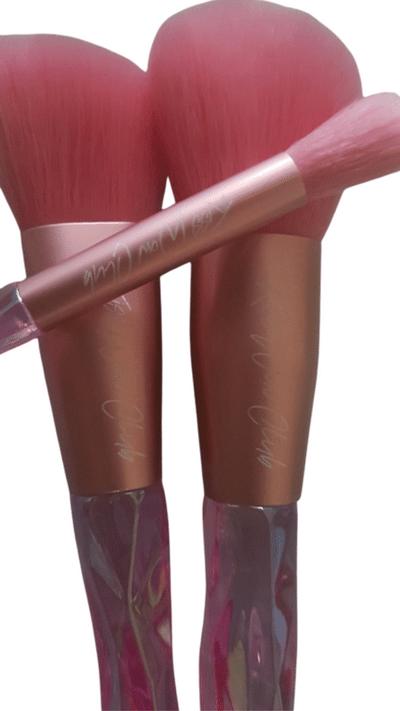 Kiss Wow Club Holographic Crystal Pink Makeup Brush Set 4