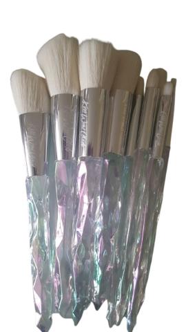 Kiss Wow Club White Holographic Crystal Makeup Brush Set 3