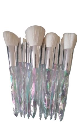 Kiss Wow Club White Holographic Crystal Makeup Brush Set 5
