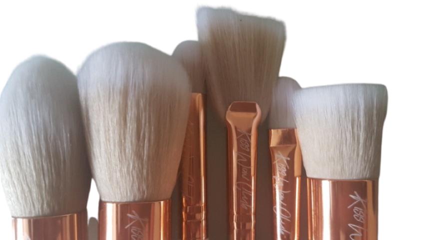 Kiss Wow Club White Sable Makeup Brush Set White Background 6